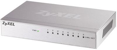 Коммутатор Zyxel GS-108B v3, 8 портов 1000 Мбит/с, настольный, металлический корпус