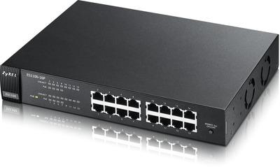 Коммутатор PoE Zyxel ES1100-16P, 16xFE, (8xPoE), настольный, бюджет PoE 60 Вт