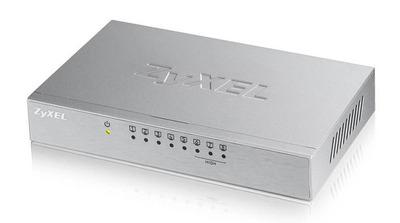Коммутатор Zyxel ES-108A v3, 8 портов 100 Мбит/с, настольный, металлический корпус