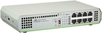 Allied telesis 8 port 10/100/1000TX unmanaged switch with internal power supply EU Power Adapter