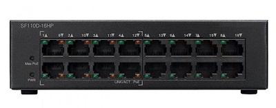 SF110D-16HP 16-Port 10/100 PoE Desktop Switch