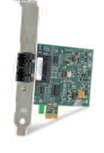 Allied Telesis 100Mbps Fast Ethernet PCI-Express Fiber Adapter Card; SC connector, includes both standard and low profile brackets, Single pack