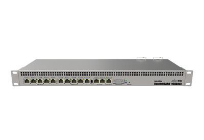 MikroTik RouterBOARD 1100AHx4 Dude Edition with Annapurna Alpine AL21400 Cortex A15 CPU (4-cores, 1.4GHz per core), 1GB RAM, 13xGbit LAN, 60GB M.2 drive, RouterOS L6, 1U rackmount case, Dual PSU