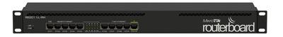 MikroTik RouterBOARD 2011iL-RM with Atheros 74K MIPS CPU, 64MB RAM, 5xLAN, 5xGbit LAN, RouterOS L4, 1U rackmount case, PSU