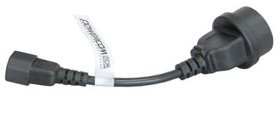 Powercom cord IEC 320 С14 to socket Type-F (504291)