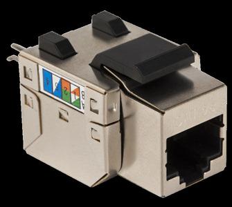 Модуль Keystone RJ45, Cat.5E, STP, 90 градусов, белый