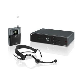 Sennheiser XSW 1-ME3-A Презентационная РЧ-система, 548-572 МГц, 10 каналов, настольный приёмник, поясной передатчик, головной микрофон ME3-II