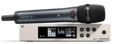 Sennheiser EW 100 G4-845-S-A Беспроводная РЧ-система, 516-558 МГц, 20 каналов, рэковый приёмник EM 100 G4, ручной передатчик SKM 100 G4-S с кнопкой. Динамический супер-кардиоидный капсюль MMD845-1.