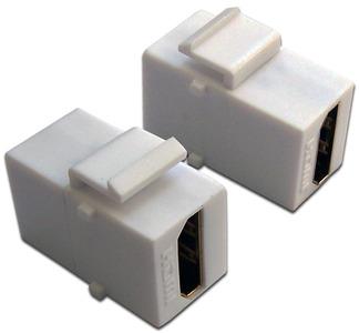 Модуль Keystone, HDMI, мама-мама, 180 градусов, белый