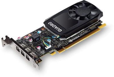 PNY Nvidia Quadro P400 DVI 2GB GDDR5, 64-bit, PCIEx16 3.0, mini DP 1.4 x3, Active cooling, TDP 30W, LP, Bulk