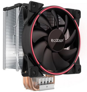 PCCooler GI-X5R S775/115X/AM2/AM3/AM4 (24 шт/кор, TDP 160W, вент-р 120мм с PWM, Red LED FAN, 5 тепловых трубок 6мм, 1000-1800RPM, 26.5dBa)