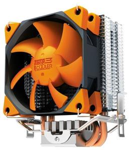 PCCooler S88 S775/115X/AM2/AM3/AM4/FM1/FM2 (48 шт/кор, TDP 98W, вент-р 80мм с PWM, 2 тепловые трубки 6мм, 1200-2000RPM, 20.5dBa) Retail Color Box