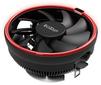 PCCooler E126MR S775/115X/AM2/2+/AM3/3+/AM4/FM1/FM2/2+ (48 шт/кор, TDP 92W, вент-р 120мм с PWM, Red LED FAN, 1000-1800RPM, 26.5dBa) Retail Color Box