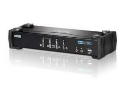 ATEN 4 PORT USB2.0 DVI KVMP SWITCH W/1.8M W/2