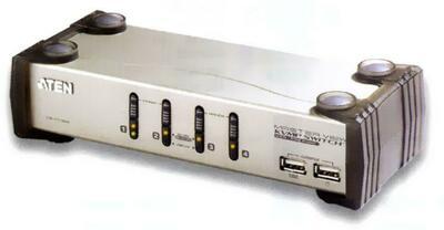 ATEN 4 PORT KVM & USB FOR PS2 W/1.8