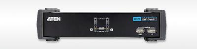 ATEN CUBIQ 2 PORT USB 2.0 DVI KVMP SWITCH