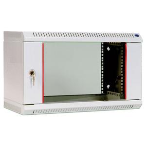 Шкаф телекоммуникационный настенный разборный 6U (600х520) дверь стекло