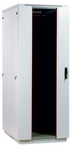 Шкаф телекоммуникационный напольный 42U (800x800) дверь стекло (3 места)