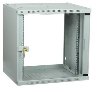ITK Шкаф LINEA WE 6U 550x350мм дверь стекло серый
