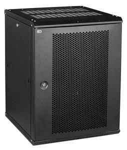 ITK Шкаф LINEA W 9U 600x450 мм дверь перфорированная, RAL9005