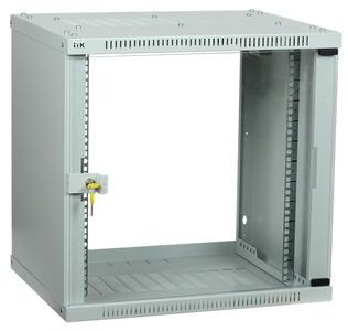 ITK Шкаф LINEA WE 9U 600x450мм дверь стекло серый