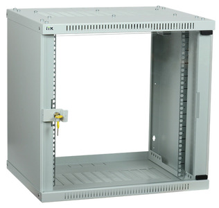 ITK Шкаф LINEA WE 9U 600x600мм дверь стекло серый