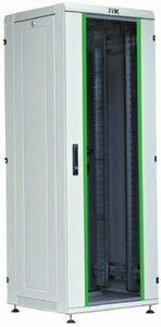 """ITK Шкаф сетевой 19"""" LINEA N 24U 600х800 мм стеклянная передняя дверь серый"""