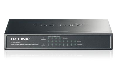 TP-Link 8-портовый гигабитный настольный PoE коммутатор, 8 гигабитных портов RJ45 + 4 порта PoE, IEEE 802.3af, бюджет PoE 53 Вт, стальной корпус