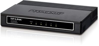 TP-Link 5-портовый настольный гигабитный коммутатор, 5 портов RJ45 10/100/1000 Мбит/с, пластиковый корпус