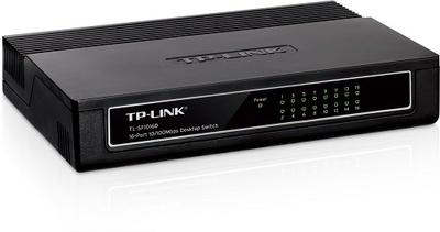 TP-Link 16-портовый 10/100 Мбит/с настольный коммутатор, 16 портов RJ45 10/100 Мбит/с, пластиковый корпус