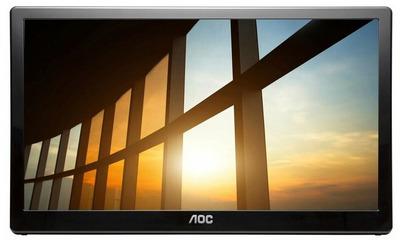 "15,6"" AOC I1659FWUX inch 1920x1080 60Гц IPS W-LED 16:9 10ms(GtG) USB 3.0 100M:1 1000:1 160/160 220cd Tilt-15-30 Pivot(with iMenu) Glossy Black"
