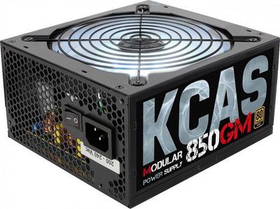 Блок питания Aerocool 850W Retail KCAS-850GM, модульный, ATX v2.4, 80+ Gold, 4+4-Pin, 4x PCI-E (6+2-Pin), 7x SATA, 4x MOLEX, 14-см c RGB подсветкой