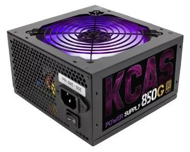 Блок питания Aerocool 850W Retail KCAS-850G ATX v2.4, 80+ Gold, 4+4-Pin, 4x PCI-E (6+2-Pin), 7x SATA, 4x MOLEX, 12см c RGB подсветкой