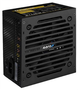 Aerocool 550W Retail VX PLUS 550 ATX v2.3 Haswell, fan 12cm, 500mm cable, power cord, 20+4P, 4+4P, PCIe 6+2P x1, PATA x 3, SATA x3, FDD