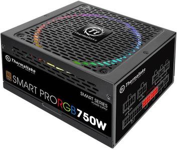 Блок питания Thermaltake PS-SPR-0750FPCBEU-R, SMART PRO/Fully Modular/750W/ATX 2.3 & EPS 2.92/A-PFC/14cm RGB Fan/EU/80Plus Bronze RTL