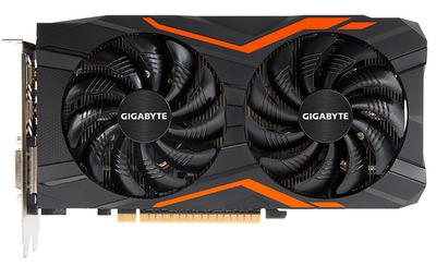 GIGABYTE GeForce GTX 1050TI, GV-N105TG1 GAMING-4GD, 4Гб, GDDR5, OC, Rtl