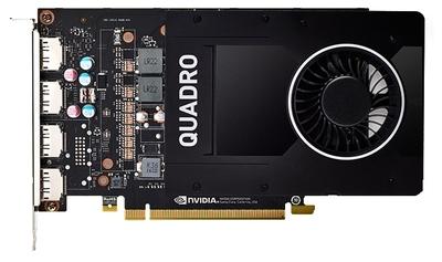 PNY Nvidia Quadro P2000 5GB PCIE 2xDP 160-bit DDR5 1024 Cores 4xDP to DVI-D (SL) adapter, Bulk