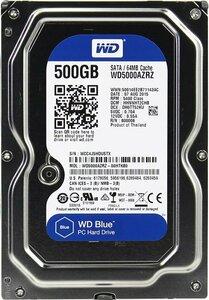Western Digital HDD SATA-III 500Gb Blue WD5000AZRZ, 5400rpm, 64MB buffer