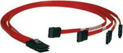LSI Cable CBL-SFF8087-SATASB-10M (L5-00195-00) (SFF8087- 4*SATA+SB),100cm Кабель данных SAS, длина 100см,наконечники: SFF8087(контроллер)- 4*SATA+SB