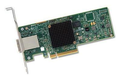 LSI HBA SAS9300-8E (H5-25460-00) (PCI-E 3.0 x8, LP, EXTERNAL) SGL SAS12G, 8port (2*extSFF8644), Каб.отдельно (аналог LSI00188/H5-25086-01)