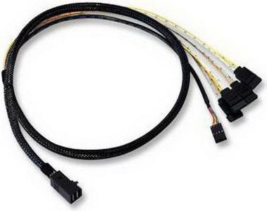 ACD Cable ACD-SFF8643-SATASB-10M, INT SFF8643-to-4*SATA+SB ( HDmSAS -to- 4*SATA+SideBand internal cable) 100cm (аналог LSI00411, 2279800-R) (6705050-100)