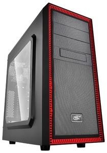 Корпус Deepcool TESSERACT SW RED без БП, боковое окно, черно-красный, ATX