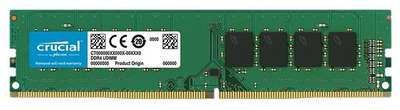 Crucial by Micron DDR4 8GB 2666MHz UDIMM (PC4-21300) CL19 SRx8 1.2V (Retail)