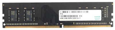 Apacer DDR4 4GB 2400MHz UDIMM (PC4-19200) CL17 1.2V (Retail) (AU04GGB24CETBGH / EL.04G2T.KFH) 512*8