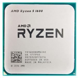 CPU AMD Ryzen X6 R5-1600 Summit Ridge 3200MHz AM4, 65W, YD1600BBM6IAE OEM (аналог YD1600BBM6IAF)
