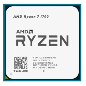 CPU AMD Ryzen X8 R7-1700 Summit Ridge 3000MHz AM4, 65W, YD1700BBM88AE OEM