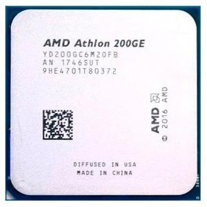 CPU AMD Athlon 200GE Raven Ridge 3200MHz AM4, 35W, Radeon Vega 3, YD200GC6M2OFB (аналог YD20GGC6M20FB) OEM