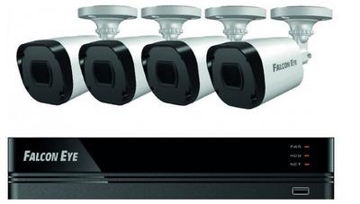 FE-2104MHD KIT SMART: Регистратор 4-х канальный+ Камеры: 4 улич., цилиндрические 2МР+Разветвитель питания+4 кабеля для камер по 18 м. 1 SATA до 10 TB