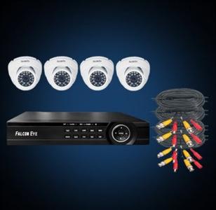 FE-104MHD KIT Дом SMART: Регистратор 4-х канальный+ Камеры: 4 универс., купольные 1 МР+Разветвитель питания+ 4 кабеля для камер 18 м. 1 SATA до 8TB