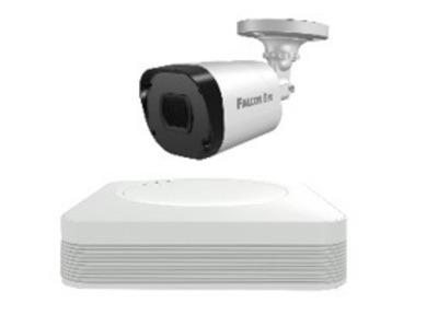 FE-104MHD KIT START SMART: Регистратор 4-х канальный+Камеры:1 улич., цилиндрическая 1 МР+Разветвитель питания+1 кабель для камеры 18 м. 1 SATA до 6 TB